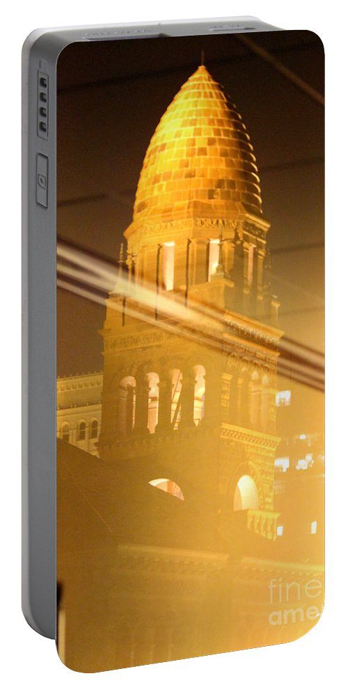 Transposed Portable Battery Charger featuring the photograph Transposed Tower by Alycia Christine