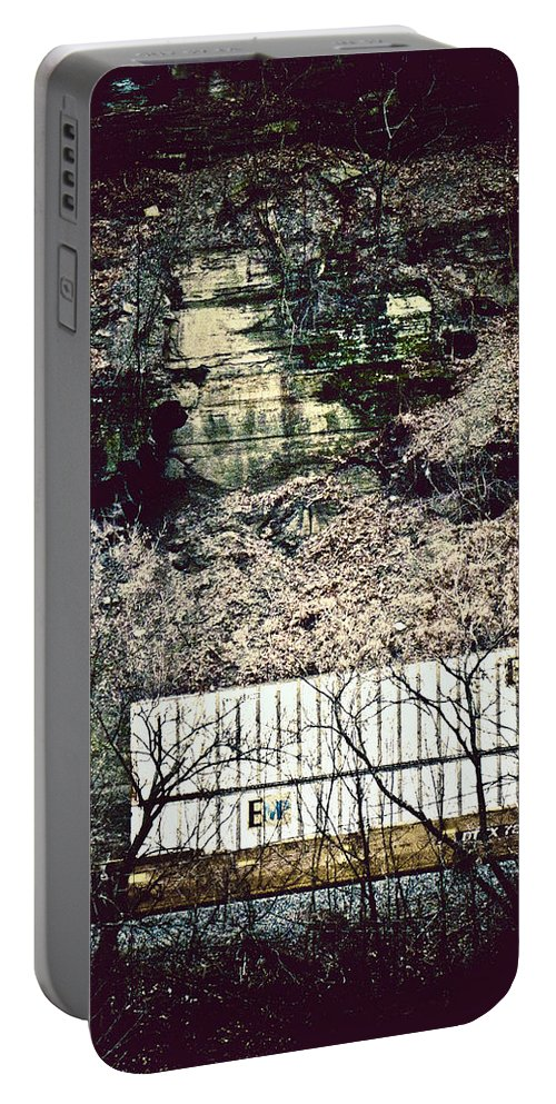 Train Portable Battery Charger featuring the photograph Travel By Train by Jessica Brawley