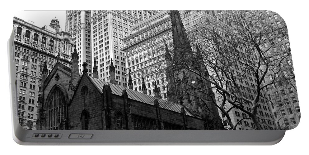 Trinity Church Portable Battery Charger featuring the photograph Trinity Church New York City by Eric Tressler