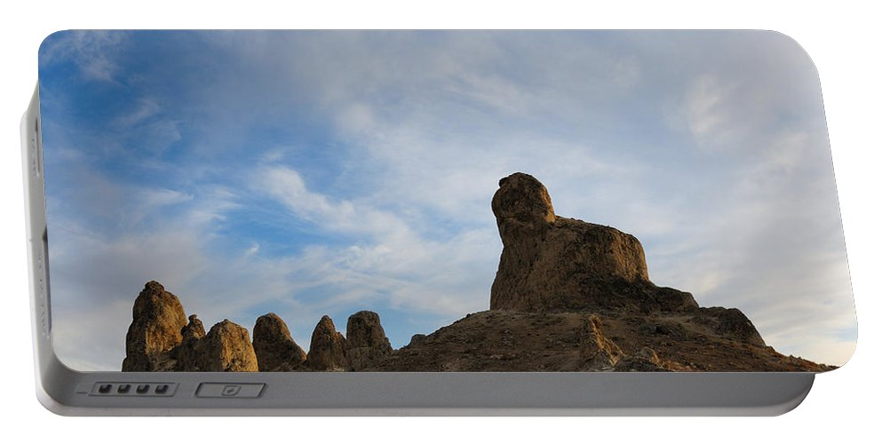 Trona Pinnacles Portable Battery Charger featuring the photograph Trona Pinnacles 2 by Vivian Christopher