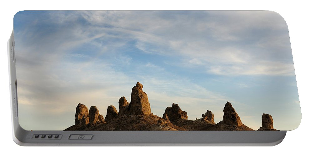 Trona Pinnacles Portable Battery Charger featuring the photograph Trona Pinnacles 3 by Vivian Christopher