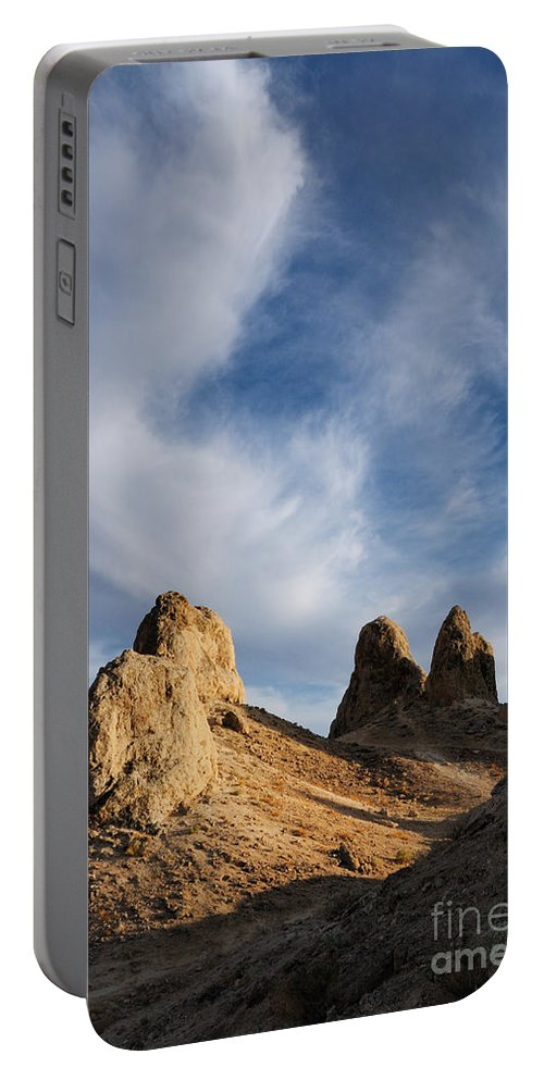 Trona Pinnacles Portable Battery Charger featuring the photograph Trona Pinnacles by Vivian Christopher