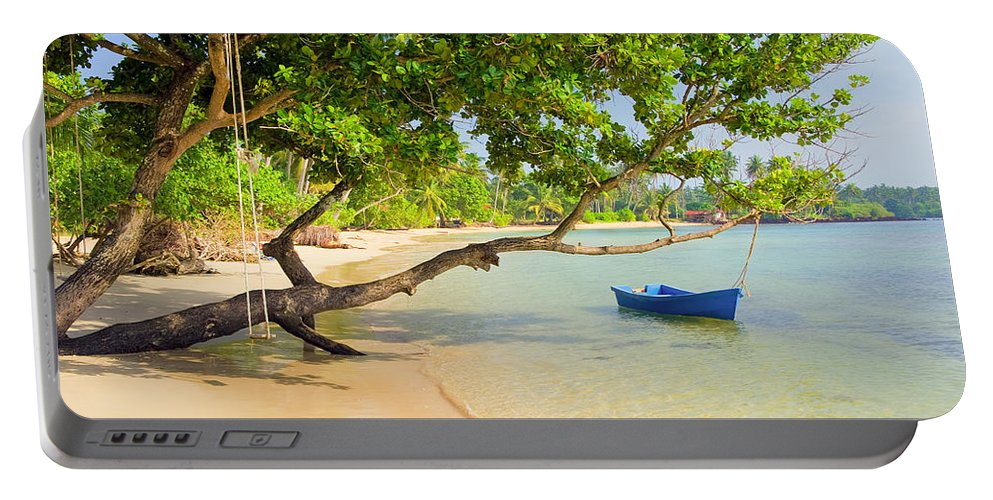 Asia Portable Battery Charger featuring the photograph Tropical Island Scenery by Artur Bogacki