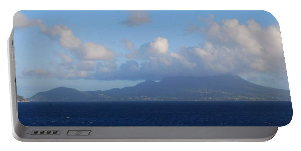 Tropical Island Portable Battery Charger featuring the photograph Tropical Mist by Gary Wonning