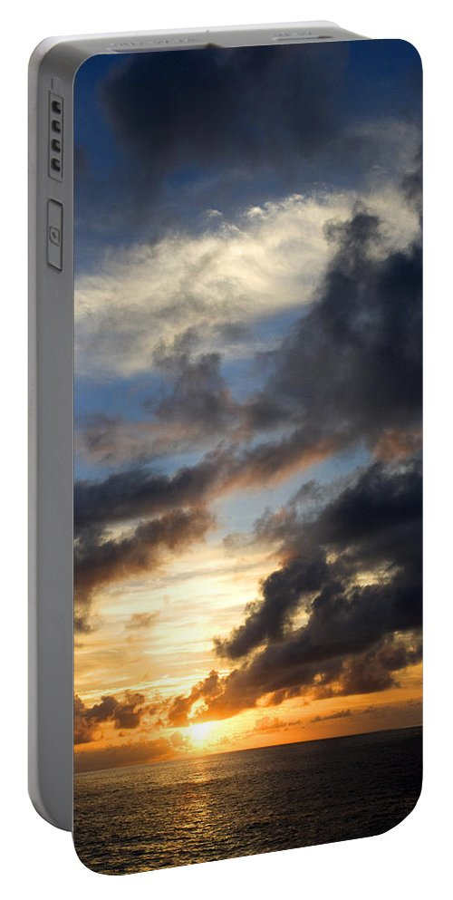 Tropical Portable Battery Charger featuring the photograph Tropical Sunset by Fabrizio Troiani