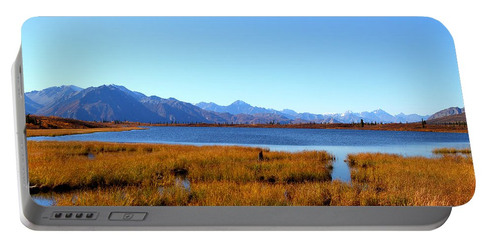 Doug Lloyd Portable Battery Charger featuring the photograph Tundra Lake by Doug Lloyd