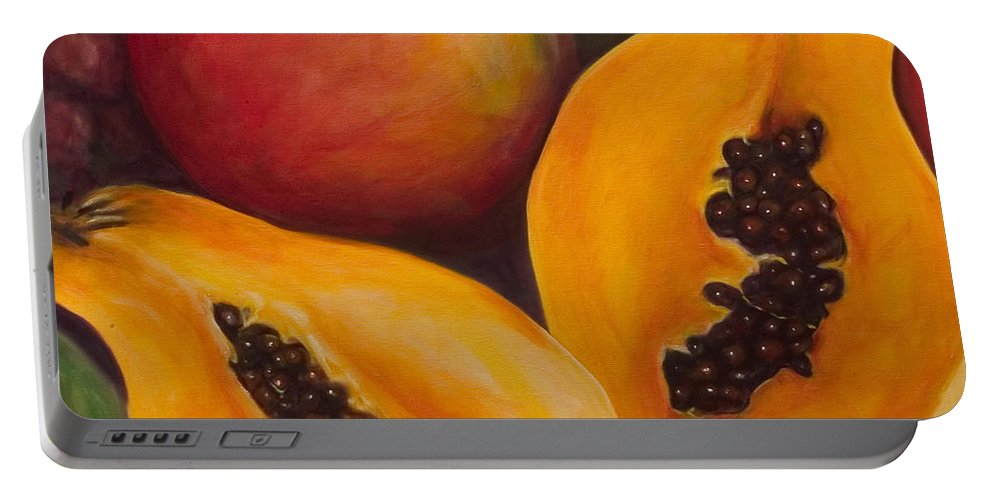 Twins Portable Battery Charger featuring the painting Twins Crop by Shannon Grissom