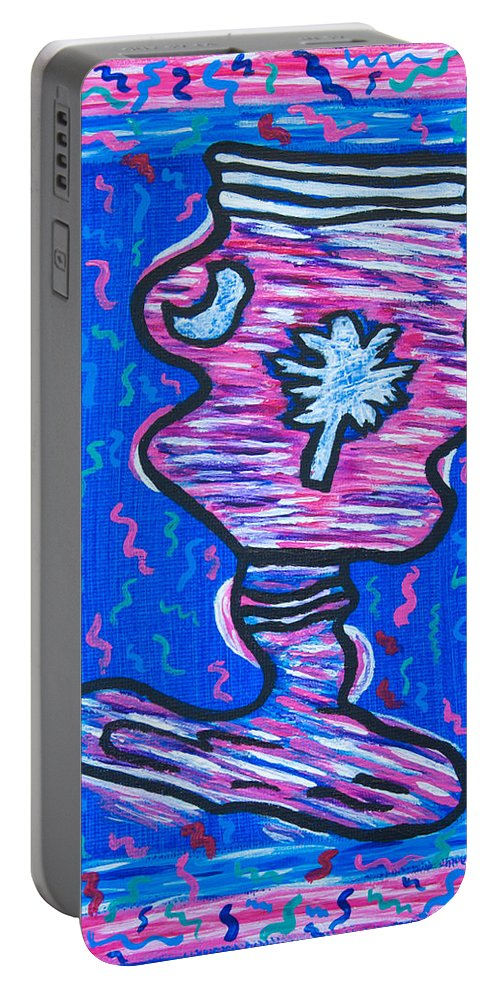 Twisted Portable Battery Charger featuring the painting Twisted Carolina Redneck by Susan Cliett