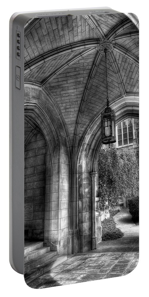 Hdr Portable Battery Charger featuring the photograph Under The Bell Tower by Brian Fisher