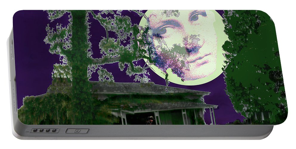 Under The Moon Portable Battery Charger featuring the photograph Under the Moon by Seth Weaver