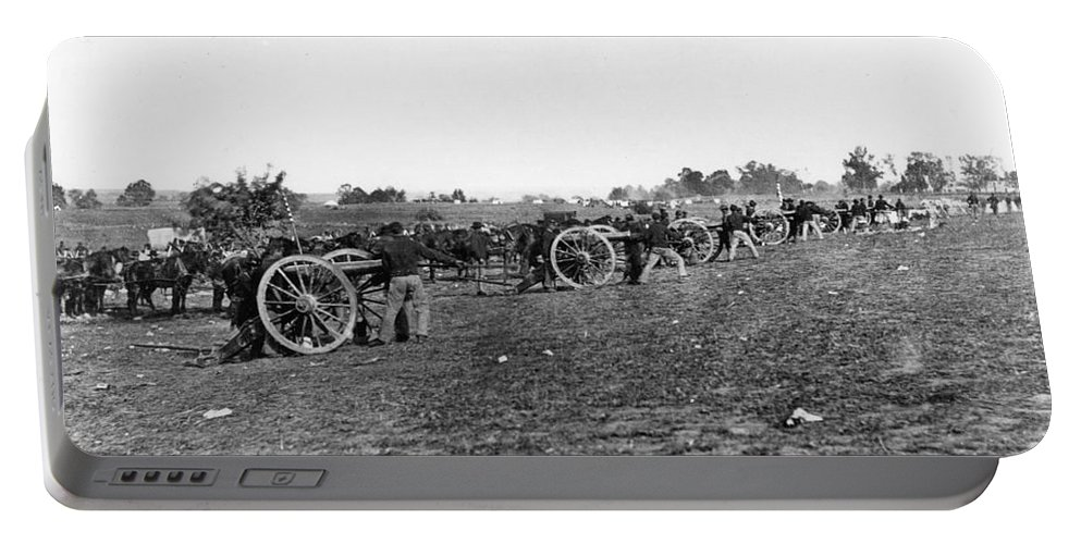 1860s Portable Battery Charger featuring the photograph Union Artillery, 1860s by Granger