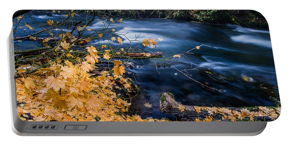 Union Creek Portable Battery Charger featuring the photograph Union Creek In Autumn by Greg Nyquist