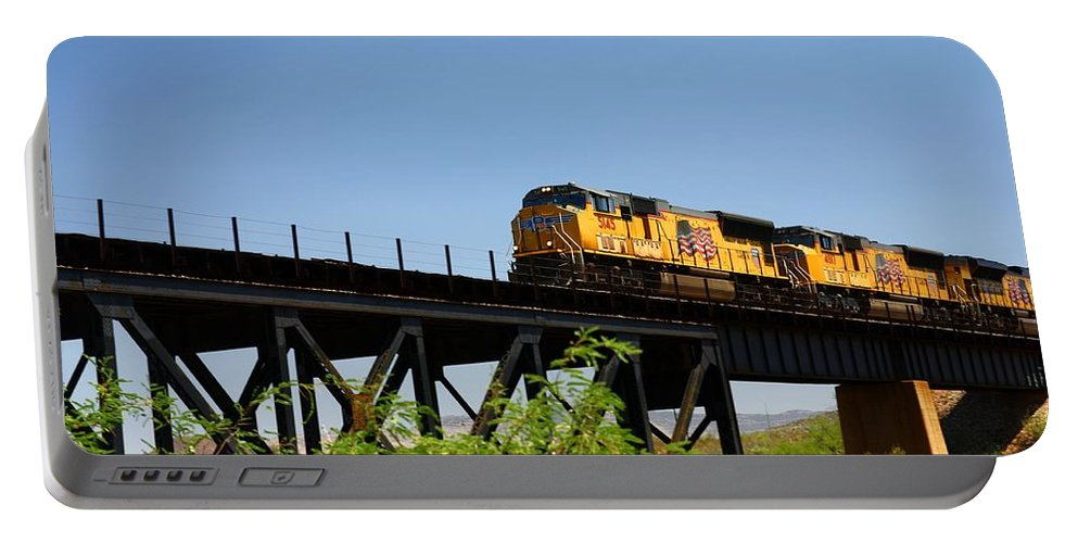 Union Pacific. Rail Road Portable Battery Charger featuring the photograph Union Pacific 5145 by Joe Kozlowski