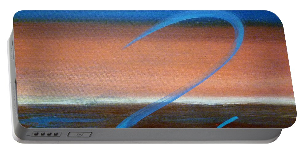 Impressionism Portable Battery Charger featuring the painting Up And Away by Sharon Abbott-Furze