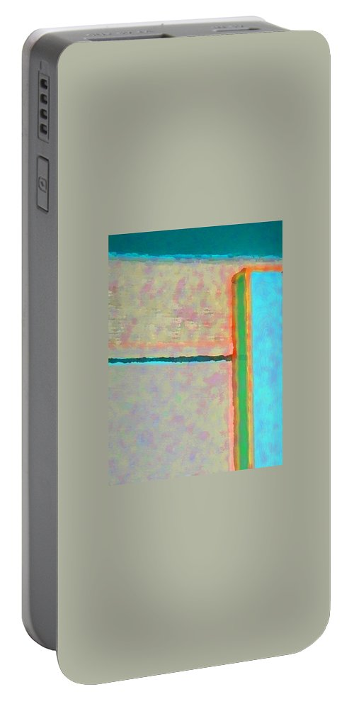 Abstract Portable Battery Charger featuring the digital art Up And Over by Richard Laeton