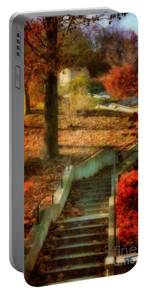 Stairs Portable Battery Charger featuring the photograph UP by Lois Bryan