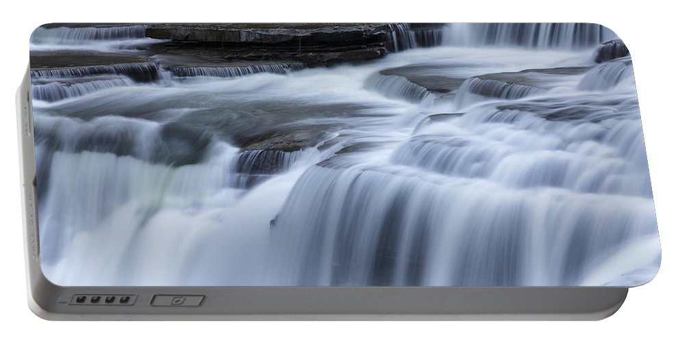 Autumn Portable Battery Charger featuring the photograph Upper Falls Detail by Rick Berk
