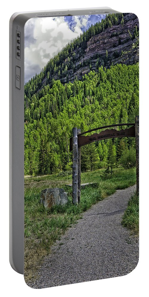 Vail Portable Battery Charger featuring the photograph Vail Memorial Park by Madeline Ellis