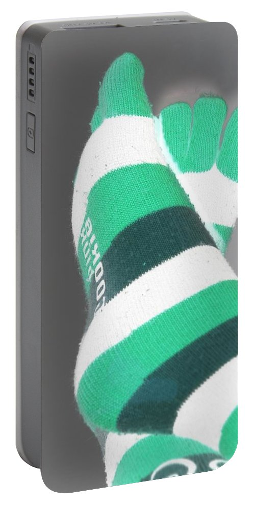 Feet Portable Battery Charger featuring the photograph Val's Feet In Negative by Rob Hans