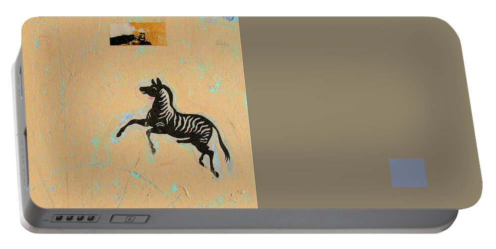 Conceptual Portable Battery Charger featuring the painting Variations Equine by Kathleen Grace