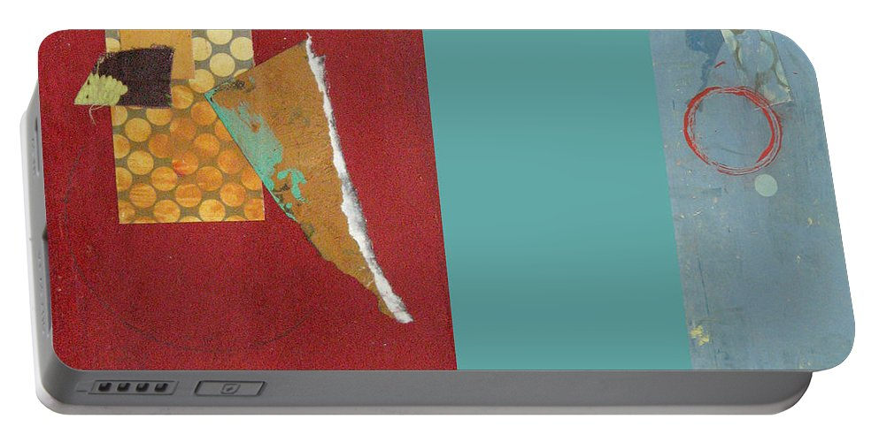 Conceptual Portable Battery Charger featuring the painting Variations Pieces by Kathleen Grace