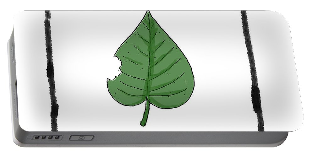 Leaf Portable Battery Charger featuring the digital art Vegetarian by George Pedro