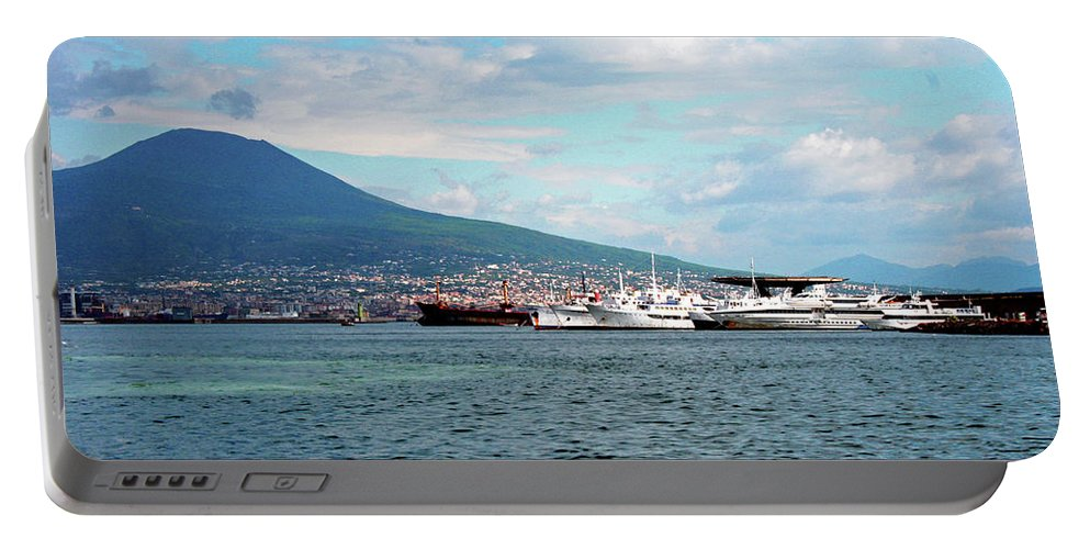 Volcano Portable Battery Charger featuring the photograph Vesuvio by La Dolce Vita