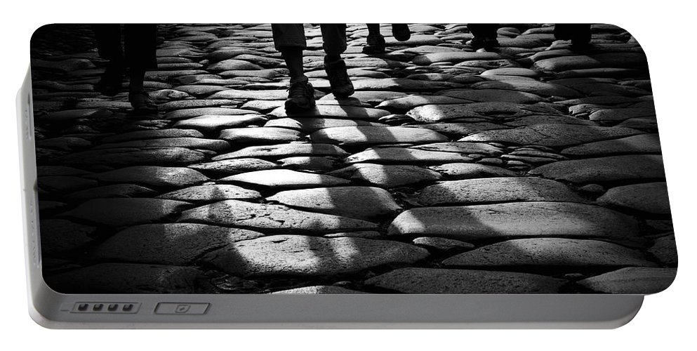 Ancient Portable Battery Charger featuring the photograph Via Sacra by Fabrizio Troiani