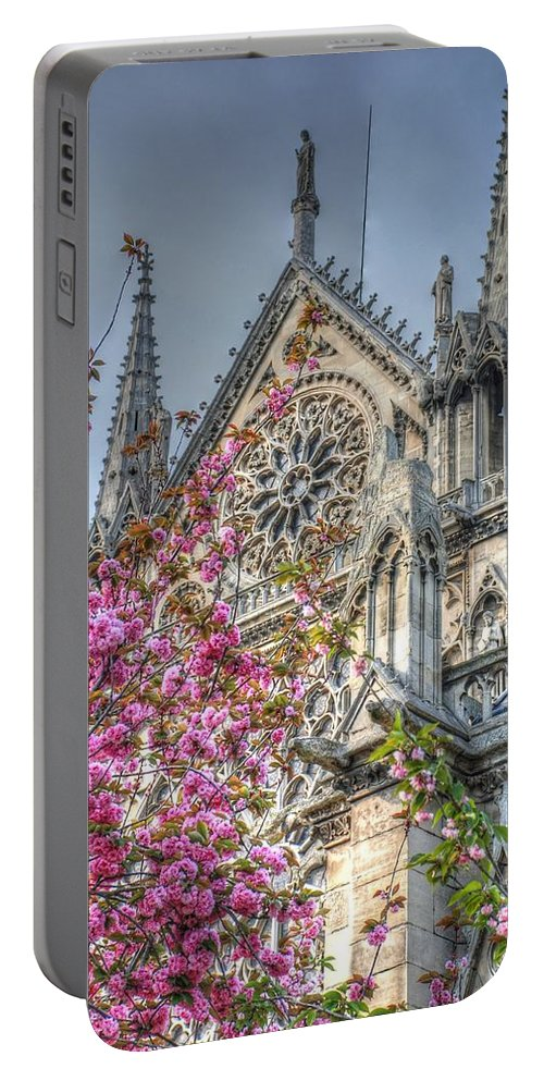 Notre Dame Portable Battery Charger featuring the photograph Vibrant Cathedral by Jennifer Ancker