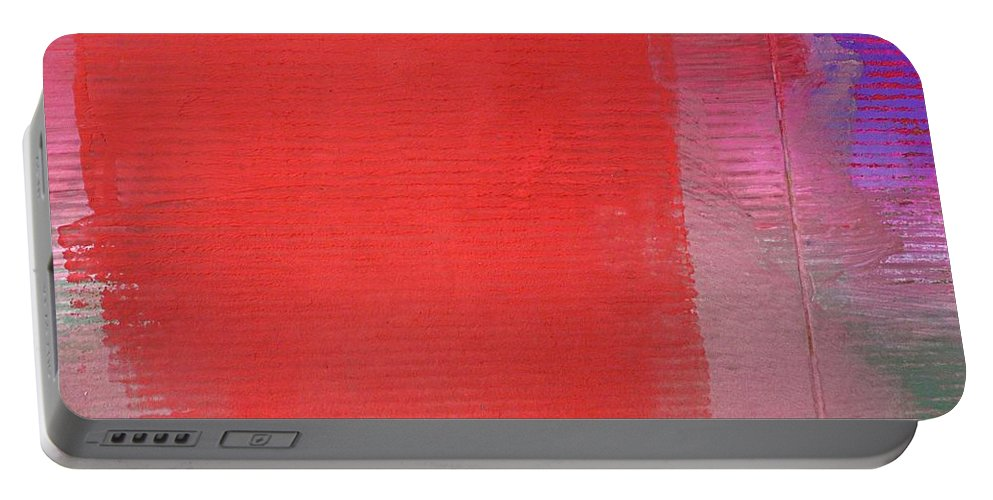 Vibes Portable Battery Charger featuring the painting Vibration by Charles Stuart