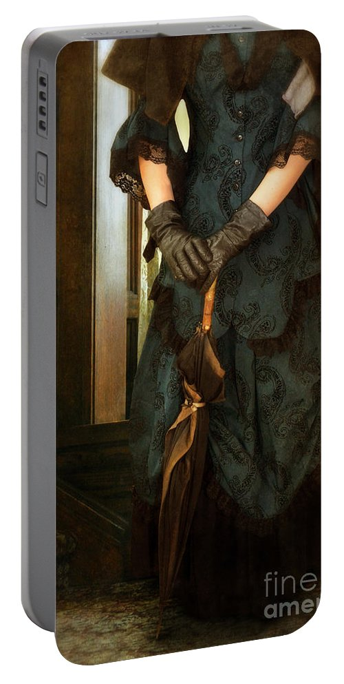 Lady Portable Battery Charger featuring the photograph Victorian Lady by Jill Battaglia