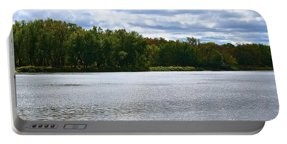 Landscape Portable Battery Charger featuring the photograph View Across The River by Susan Herber