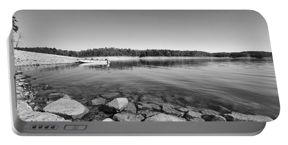 View From The Boat Ramp Portable Battery Charger featuring the photograph View From The Boat Ramp by Douglas Barnard