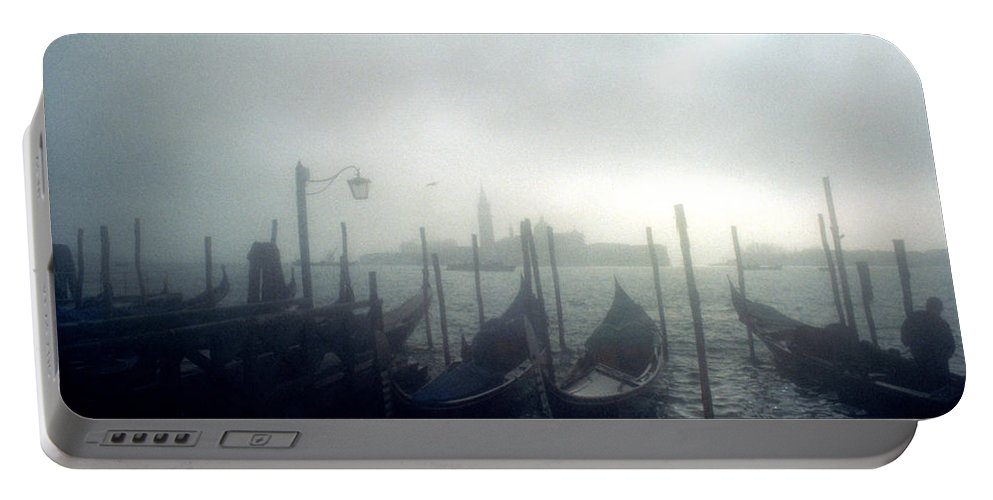 Halloween Portable Battery Charger featuring the photograph View Of San Giorgio Maggiore From The Piazzetta San Marco In Venice by Simon Marsden