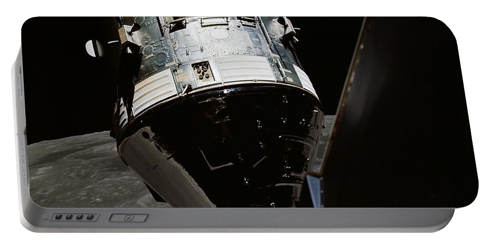 1972 Portable Battery Charger featuring the photograph View Of The Apollo 17 Command by Stocktrek Images
