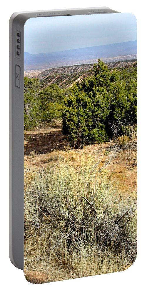 Desert Portable Battery Charger featuring the photograph View Of The Desert New Mexico by Kathleen Grace