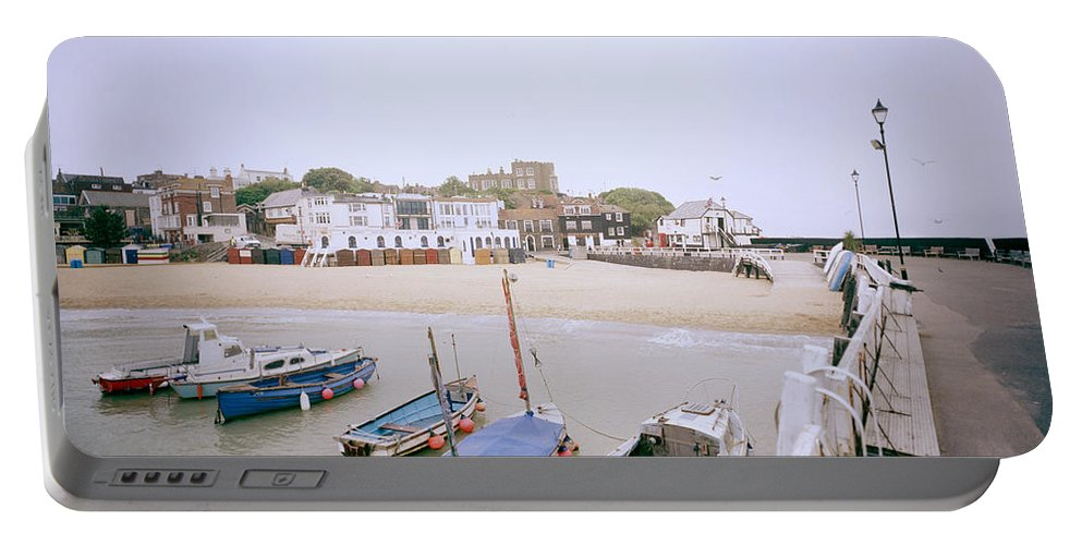 Seascape Portable Battery Charger featuring the photograph Bleak House Broadstairs by Shaun Higson