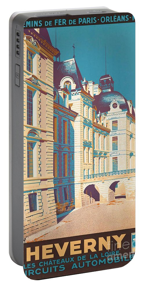 France Portable Battery Charger featuring the photograph Vintage French Travel Poster by George Pedro