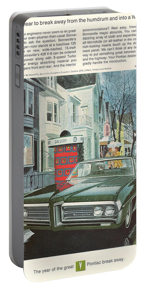 Gm Portable Battery Charger featuring the digital art Vintage Gm Pontiac by Georgia Fowler