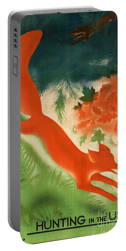 Hunting Portable Battery Charger featuring the photograph Vintage Hunting In The Ussr Travel Poster by George Pedro