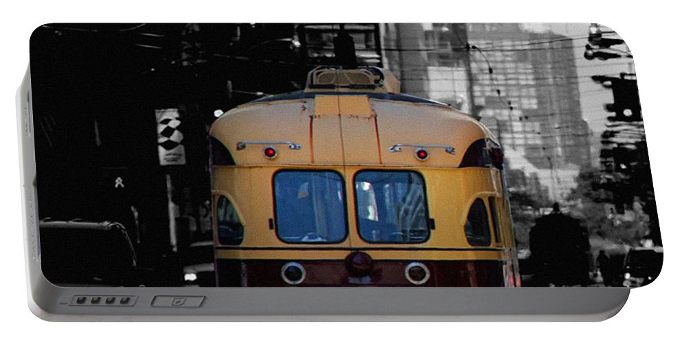 Vintage Trolley Portable Battery Charger featuring the photograph Vintage Trolley by Andrew Fare