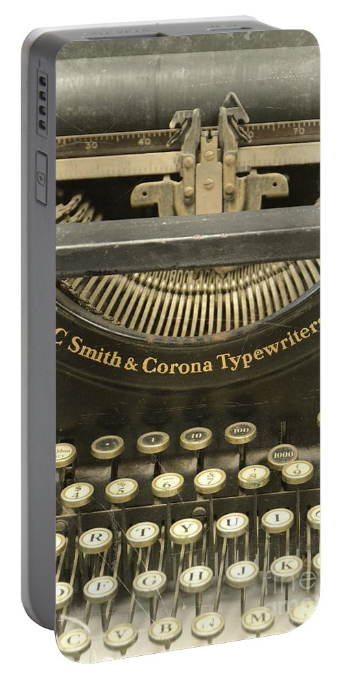 Type Portable Battery Charger featuring the photograph Vintage Typewriter by Jill Battaglia