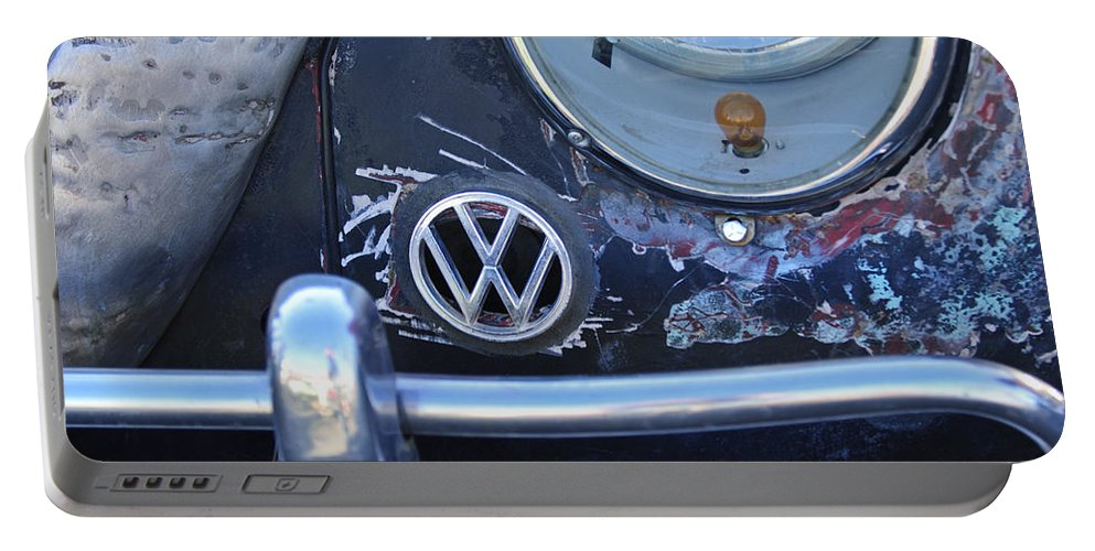 Volkswagen Vw Portable Battery Charger featuring the photograph Volkswagen Vw Emblem by Jill Reger