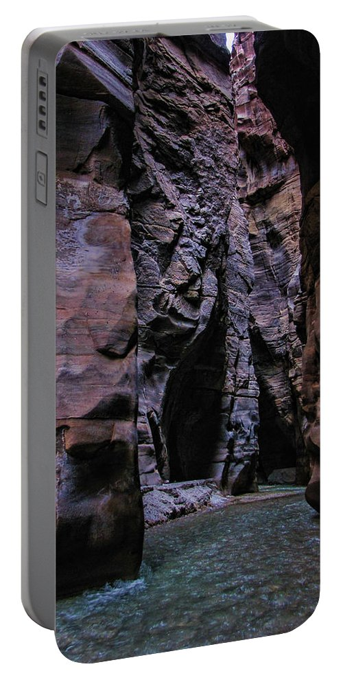 Mujib Portable Battery Charger featuring the photograph Wadi Mujib Jordan by David Gleeson