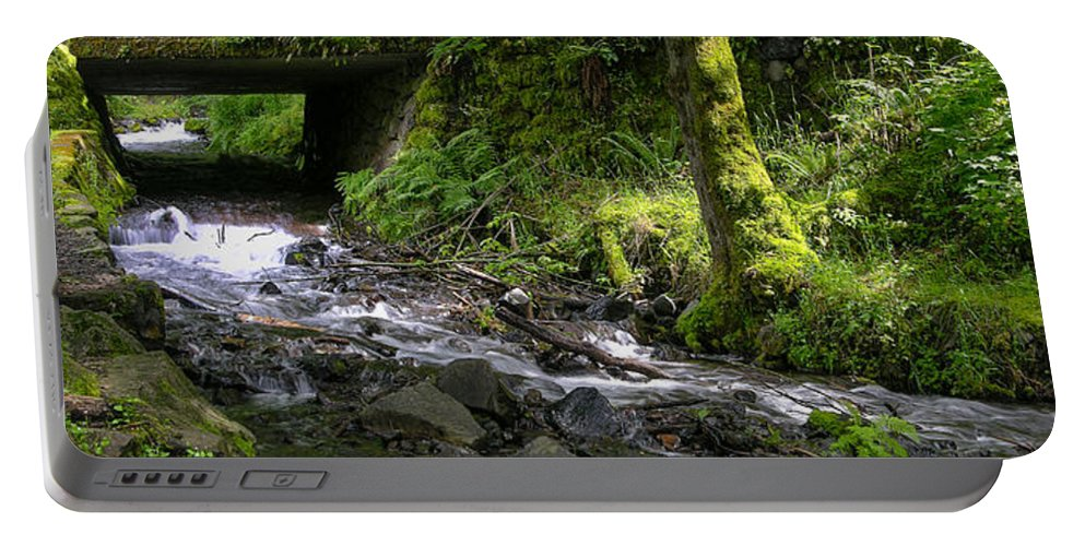 Wahkeena Falls Portable Battery Charger featuring the photograph Wahkeena Falls Three by Mike Penney