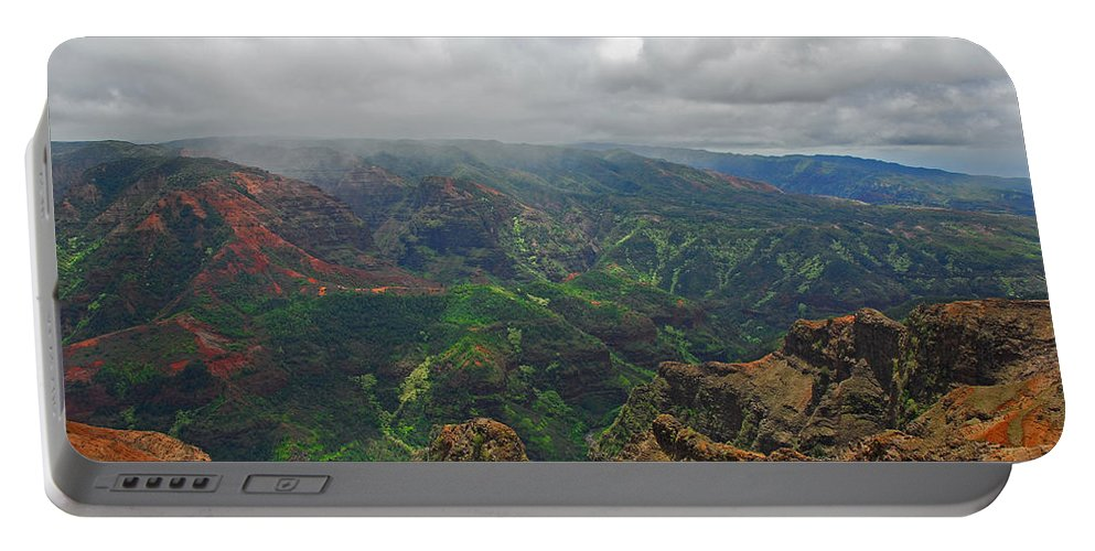 Kauai Portable Battery Charger featuring the photograph Waimea Canyon Weather by Lynn Bauer