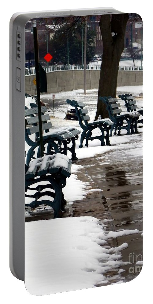 Outside Portable Battery Charger featuring the photograph Waiting For Clear Skies by Charleen Treasures