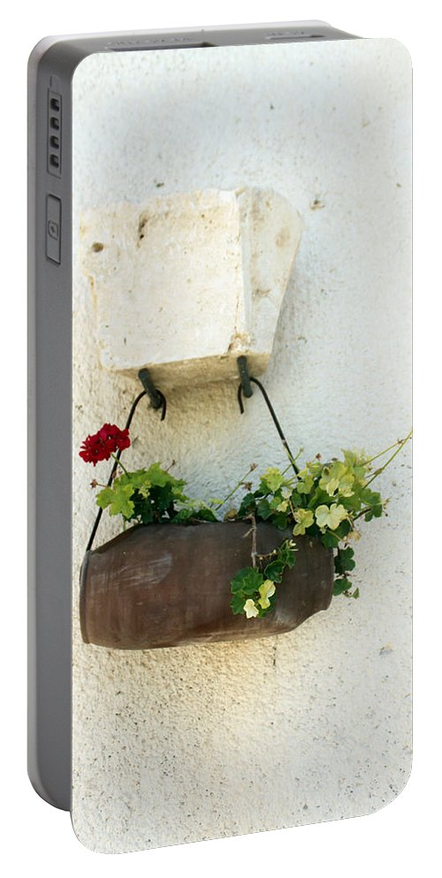 Flower Portable Battery Charger featuring the photograph Waiting For The Meeting by Munir Alawi