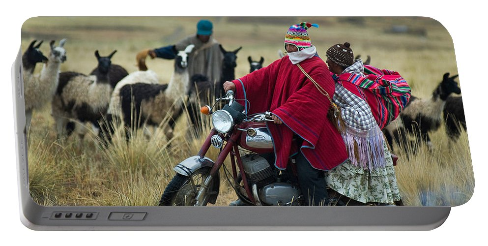 Paseo Portable Battery Charger featuring the photograph Walk Through The Highlands. Republic Of Bolivia. by Eric Bauer
