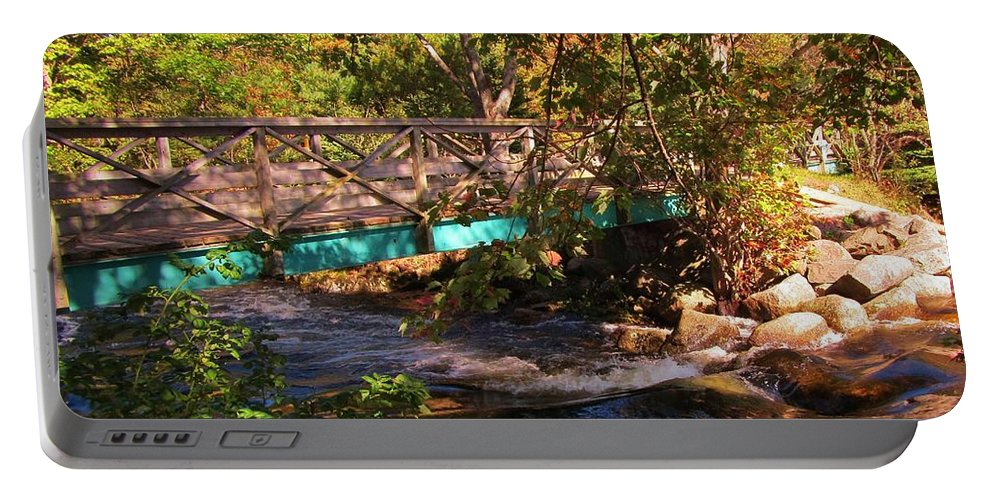 Bridge Portable Battery Charger featuring the photograph Walking Bridge In Autumn by John Malone
